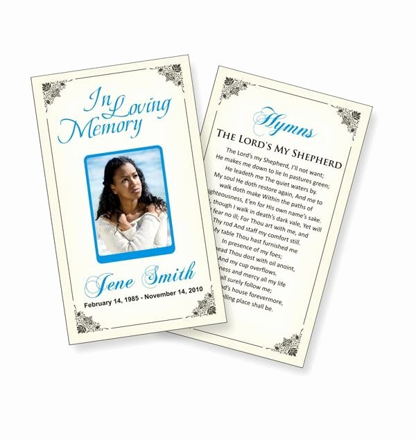 Funeral Prayer Cards Templates Unique Funeral Prayer Cards Templates Funeral Ideas