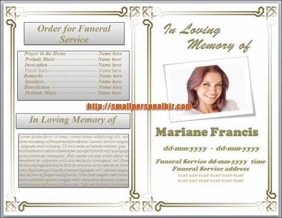 Funeral Program Templates Word Free Inspirational 6 Free Funeral Program Templates Microsoft Word Website