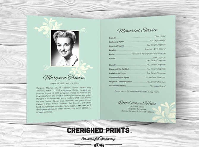 Funeral Program Templates Word Free Inspirational 9 Funeral Program Template Free Word Pdf Doc Psd formats