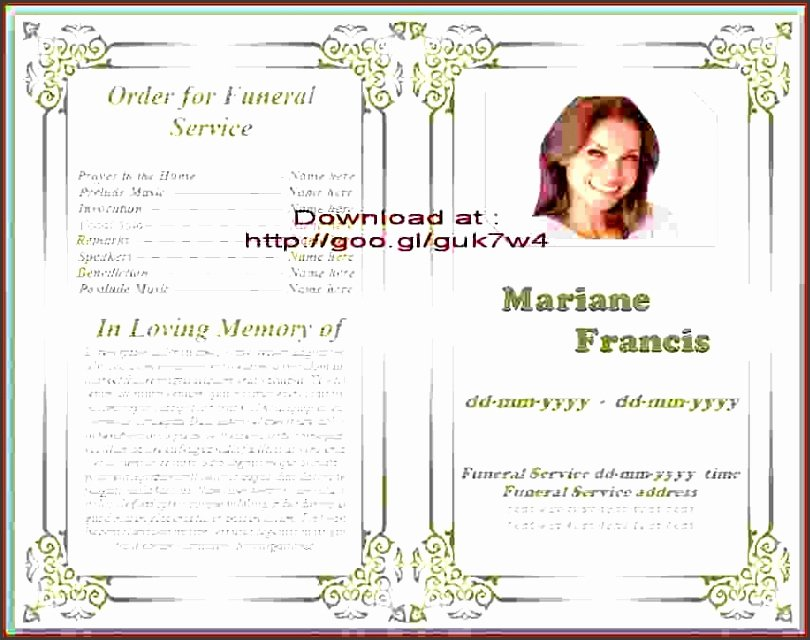 Funeral Program Templates Word Free Luxury 9 Download Free Funeral Program Template