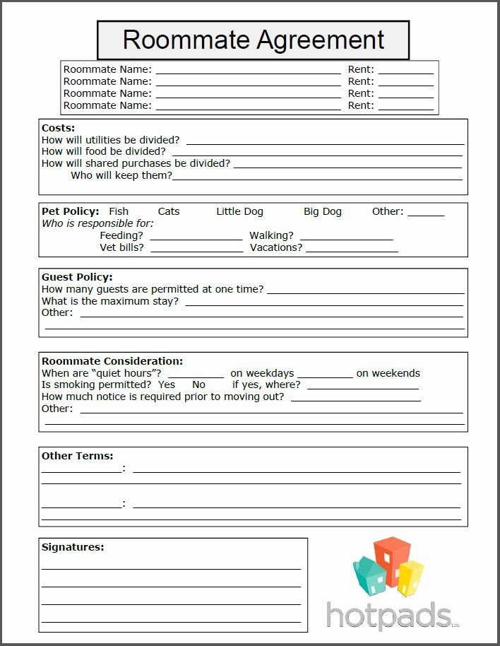 Funny Roommate Agreement Elegant 10 Best Images About Printable Agreements On Pinterest