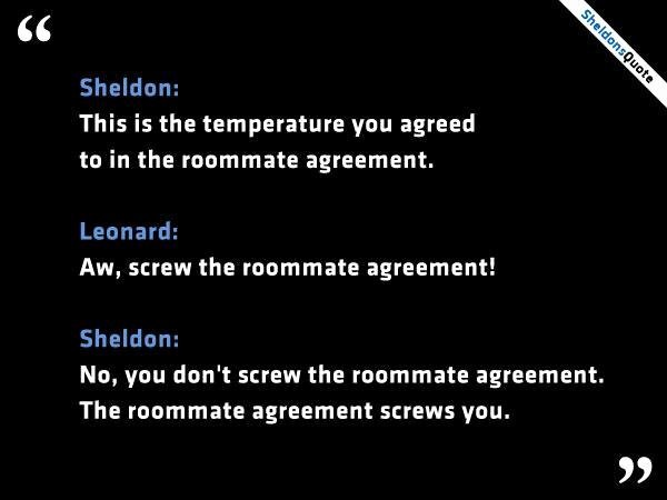 Funny Roommate Agreement Inspirational 1000 Images About Bazinga On Pinterest