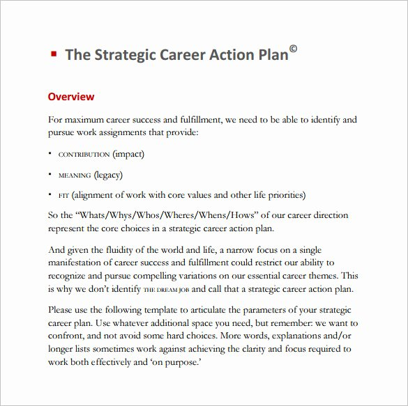 Future Career Plan Example Inspirational 12 Career Action Plan Templates Doc Pdf Excel
