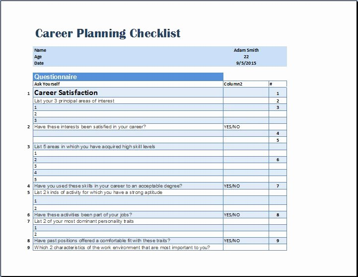 Future Career Plan Example Unique Future Planning Worksheet the Best Worksheets Image