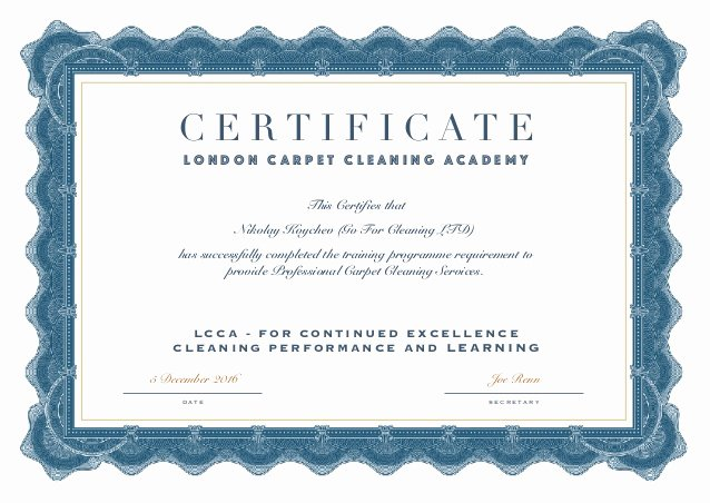 G.go/itcertificate Lovely Certificate Carpet Cleaners