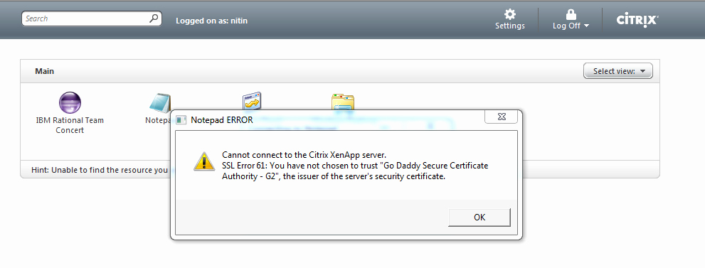 G.go/itcertificate Unique Citrix Troubleshooting Steps Ssl Error 61 You Have Not