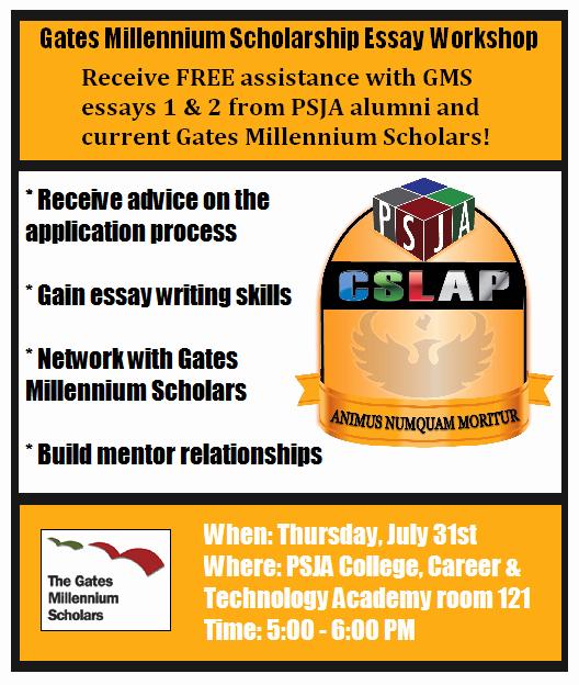 Gates Millenium Scholarship Essays Examples Best Of Psja High School Psjabearpride