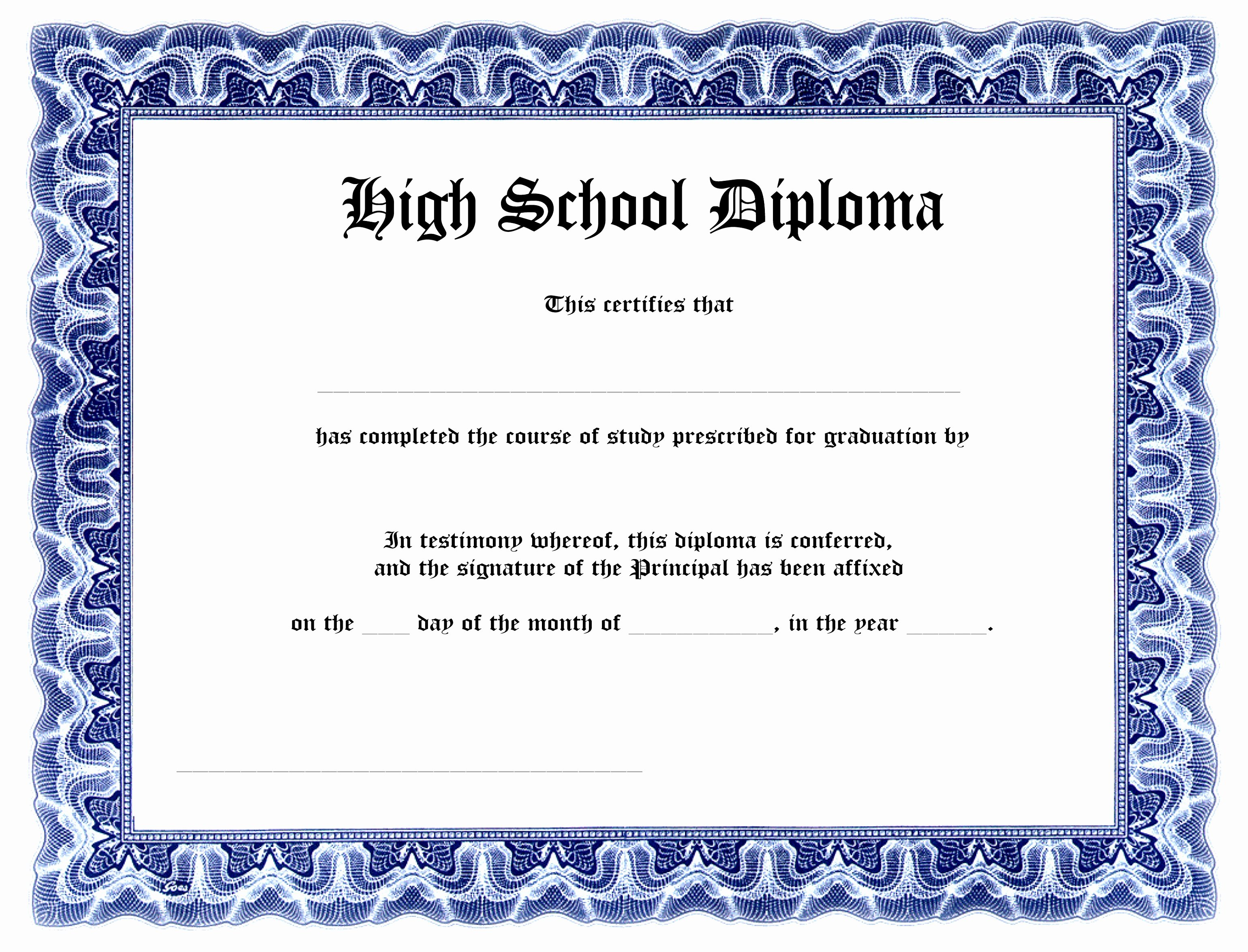 Ged Certificate Template Download Lovely 9 Printable Fake Diploma Templates Tiati