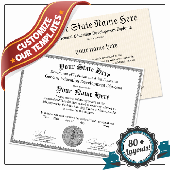 Ged Certificate Template Download Lovely Fake Ged Diploma Template All 50 Us States Plus Canada
