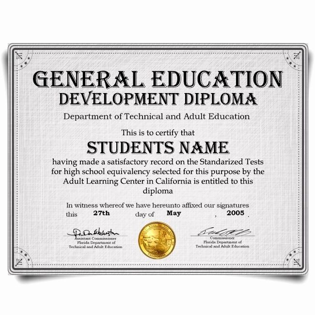 Ged Certificate Template Download Lovely Ged Certificate Template Download