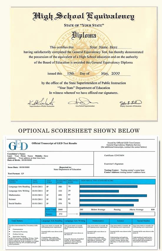 Ged Certificate Template Download Luxury Fake Ged and Score Sheet