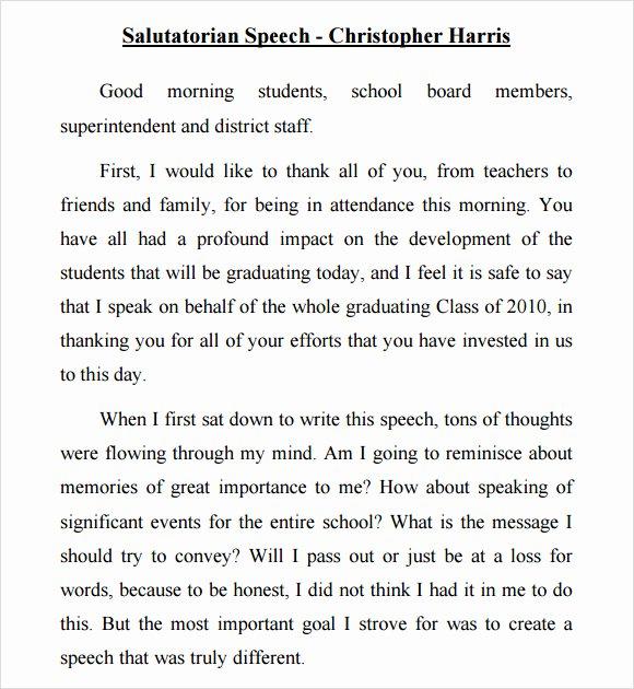 Ged Graduation Speech Examples Beautiful 9 Salutatorian Speech Samples Pdf