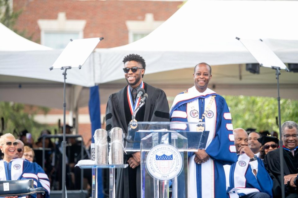 Ged Graduation Speech Examples Lovely Howard University Alum Chadwick Boseman Returns to Deliver