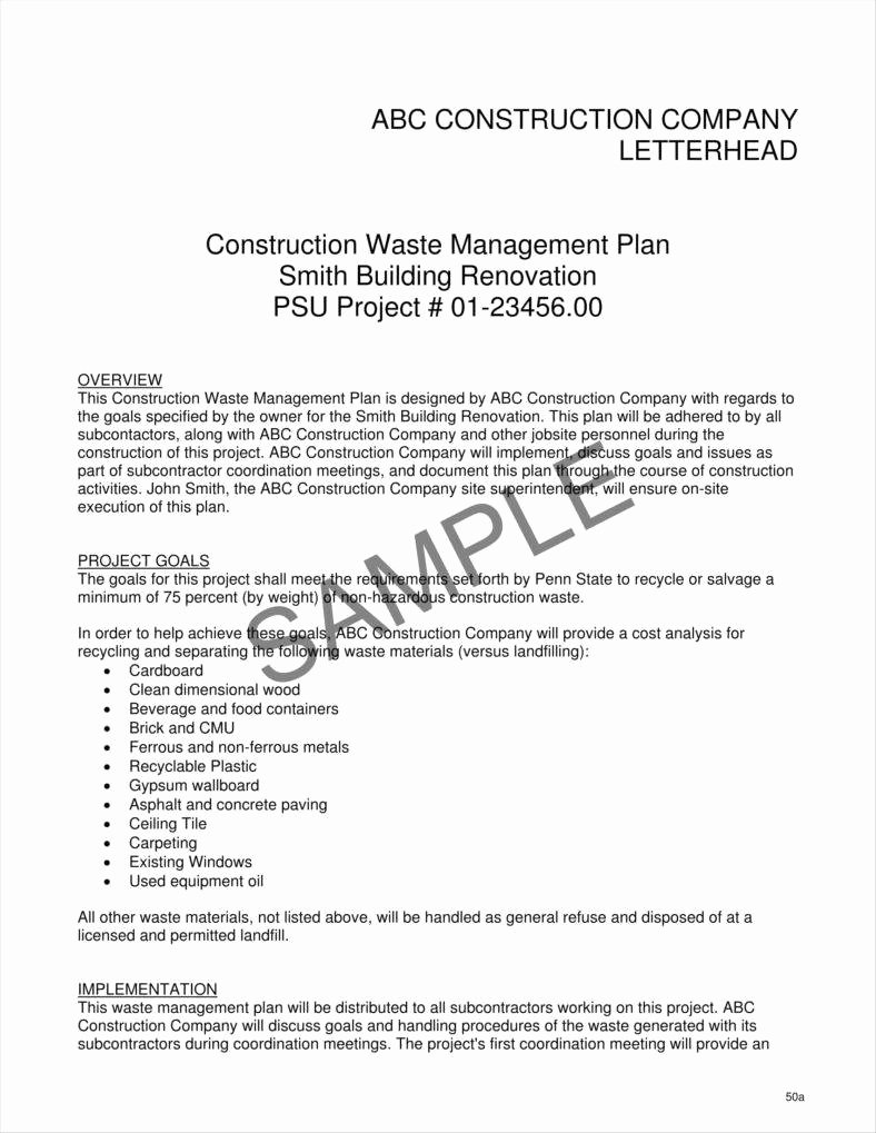 General Contractor Business Plan Template New 9 Contractor Letterhead Templates