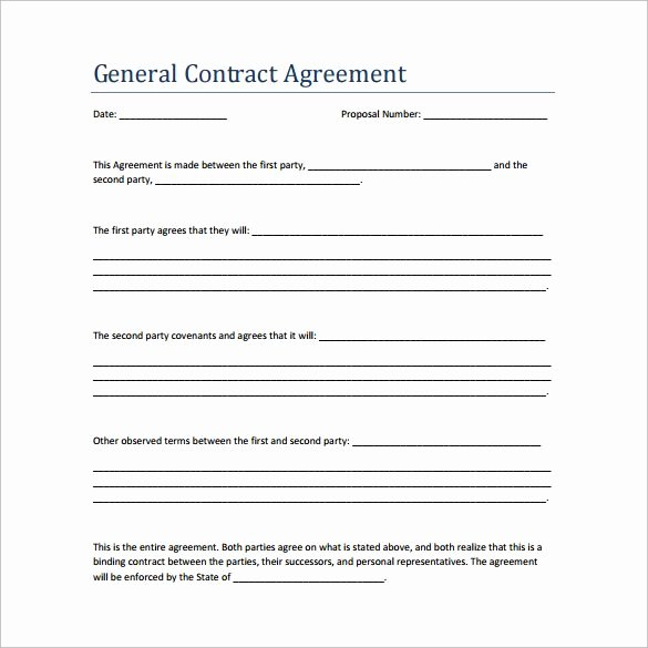 General Contractor Business Plan Template Unique Sample Contract Agreement 13 Free Documents Download In