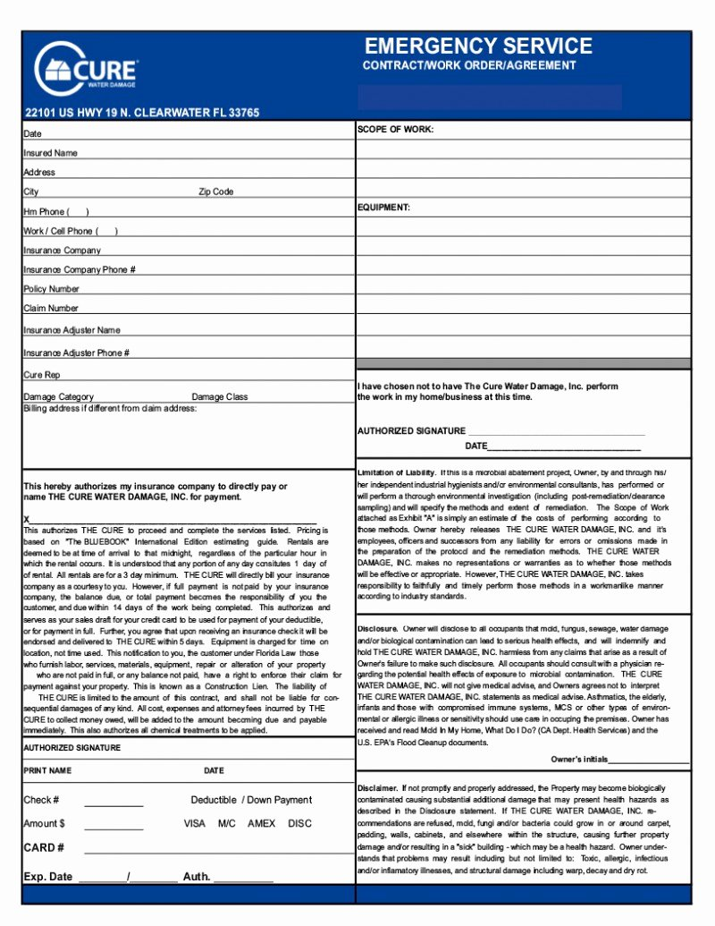 General Contractor Checklist Template Beautiful General Contractor Invoice form Samples