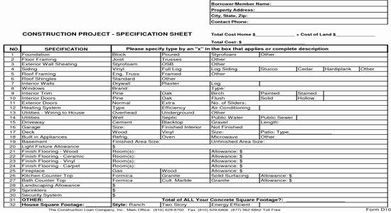 General Contractor Checklist Template Beautiful New Home Construction Bid Sheet