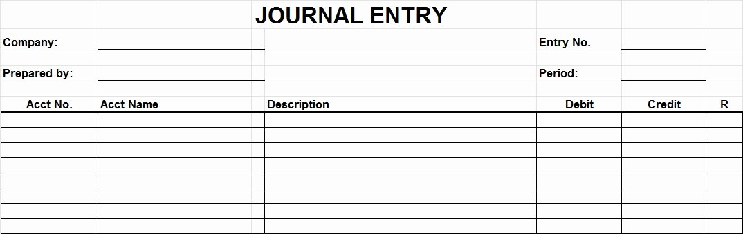 General Journal Template Excel Awesome 29 Of Entry form Template Excel