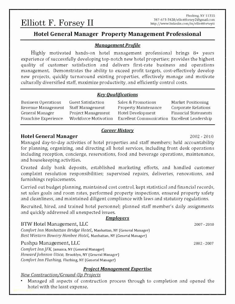 Generic Job Description Best Of Real Estate Manager Resume Sample