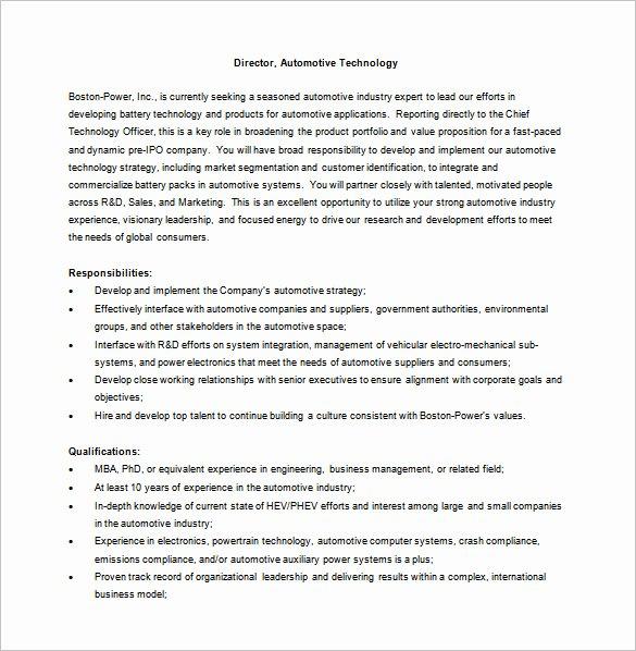 Generic Job Description Elegant 12 General Manager Job Description Templates – Free