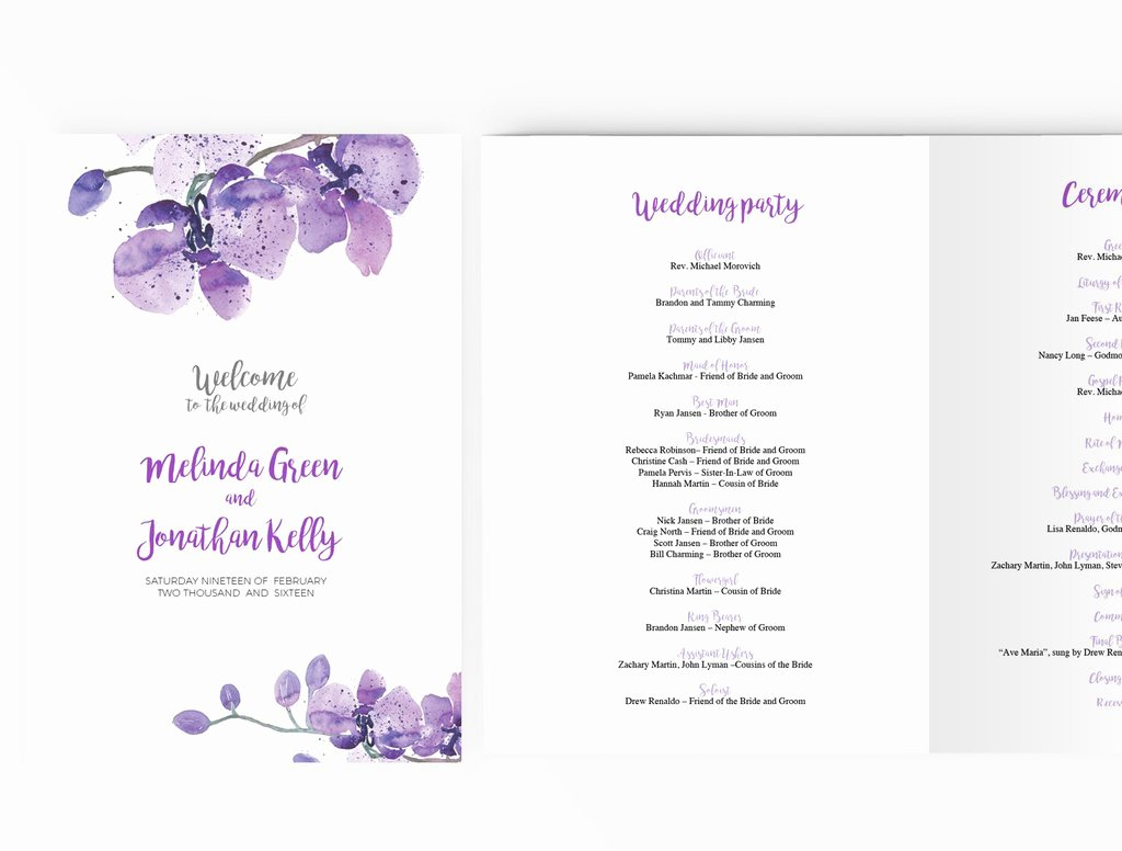 Geofilter Template Free Awesome Wedding Program Booklet Diy