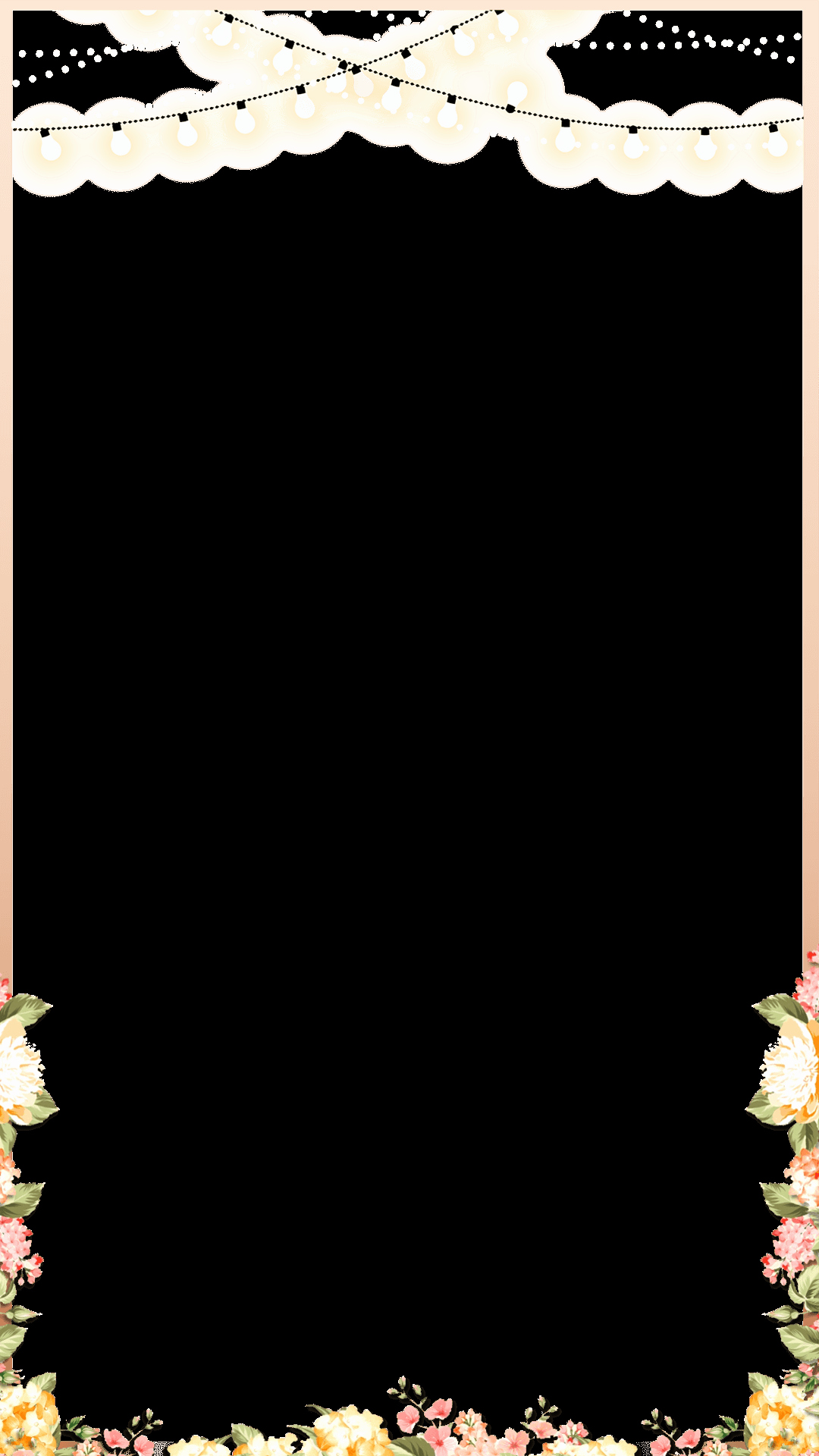 Geofilter Template Free Beautiful Elegant Rose Gold Spring Floral Wedding Snapchat Filter