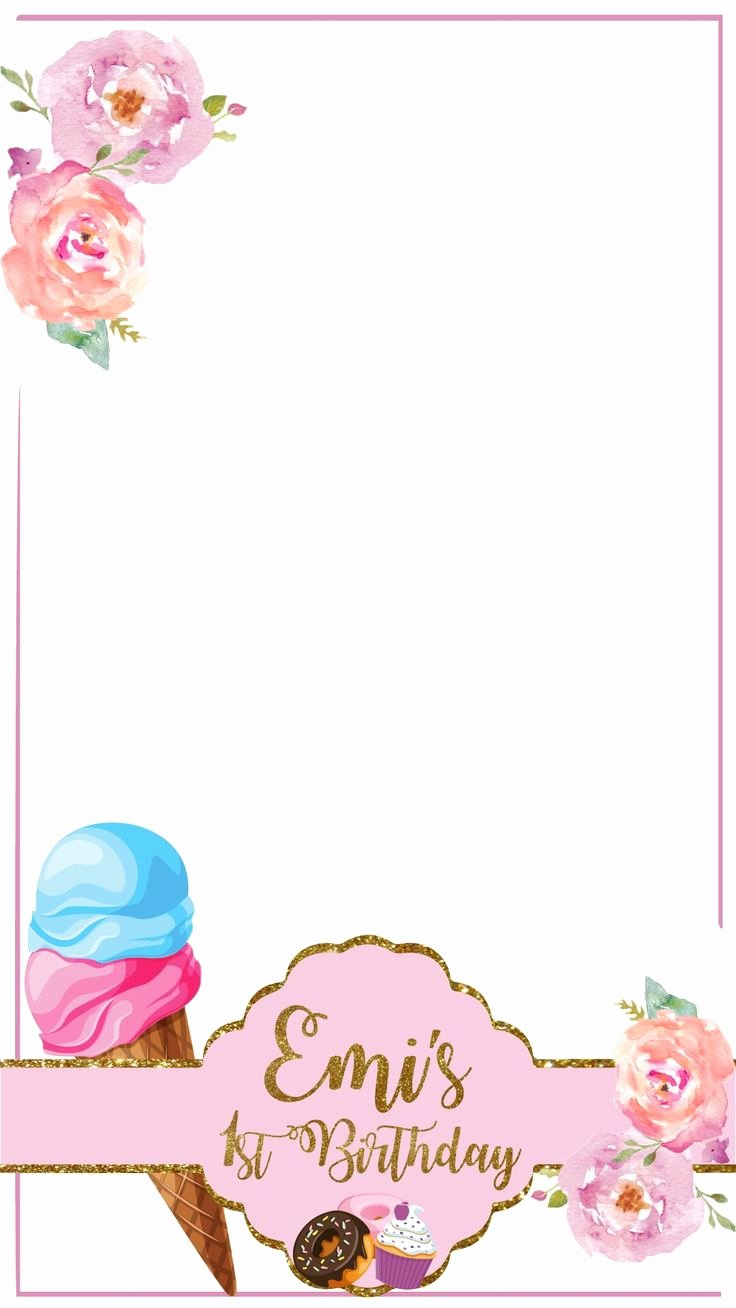 Geofilter Template Free Elegant Custom Birthday Snapchat Geofilter Ice Cream Donuts