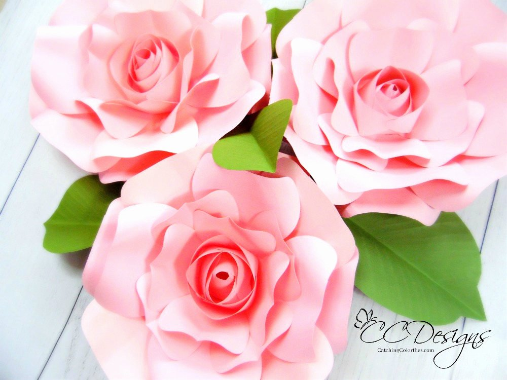 Giant Rose Template Elegant Diy Giant Rose Templates Paper Rose Patterns & Tutorials