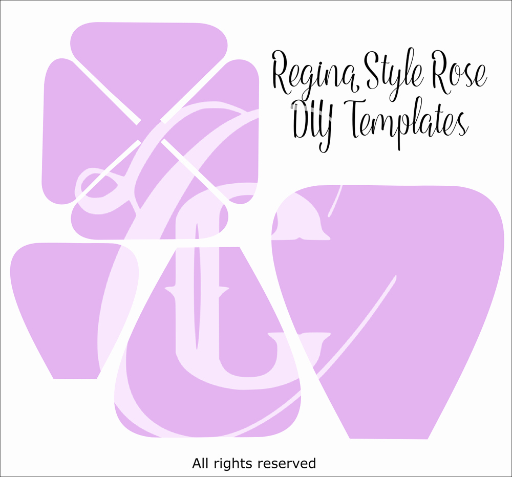 Giant Rose Template Luxury Giant Paper Rose Templates Regina Style