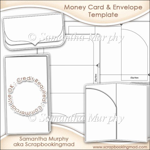 Gift Card Envelope Templates Awesome Money Gift Card & Envelope Template Mercial Use £3 50