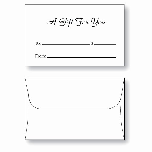 """Gift Card Envelope Templates New Gift Card Envelope Style D """"a Gift for You"""""""