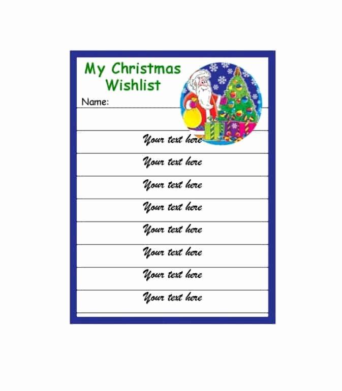 Gift Exchange Wish List Template Beautiful 43 Printable Christmas Wish List Templates & Ideas