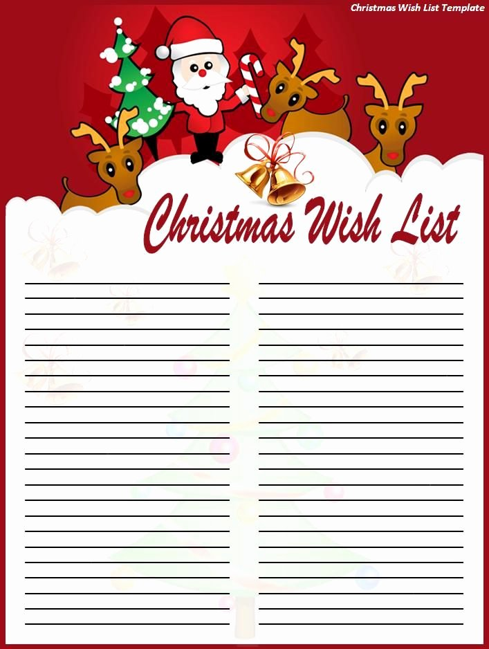 Gift Exchange Wish List Template Fresh Another Cute Christmas List