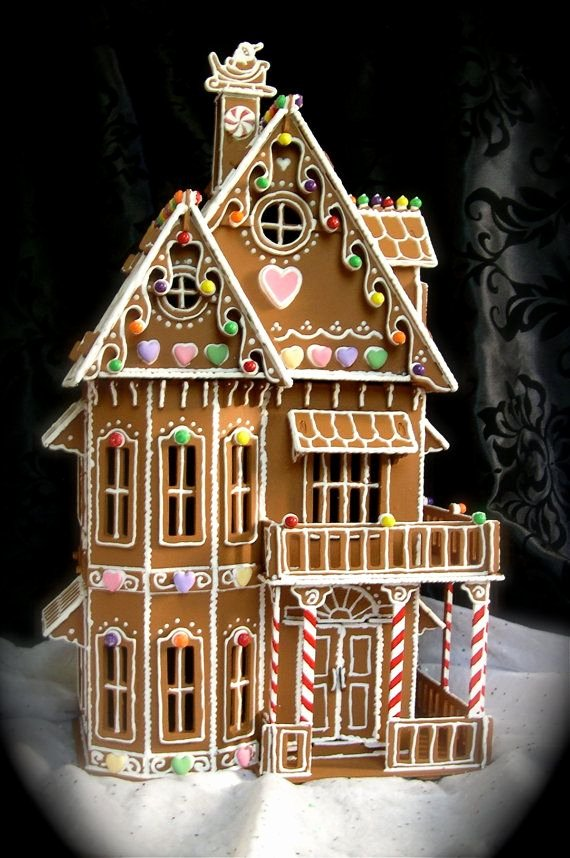 Gingerbread Castle Template Elegant Gingerbread House Patterns Victorian House Style Design