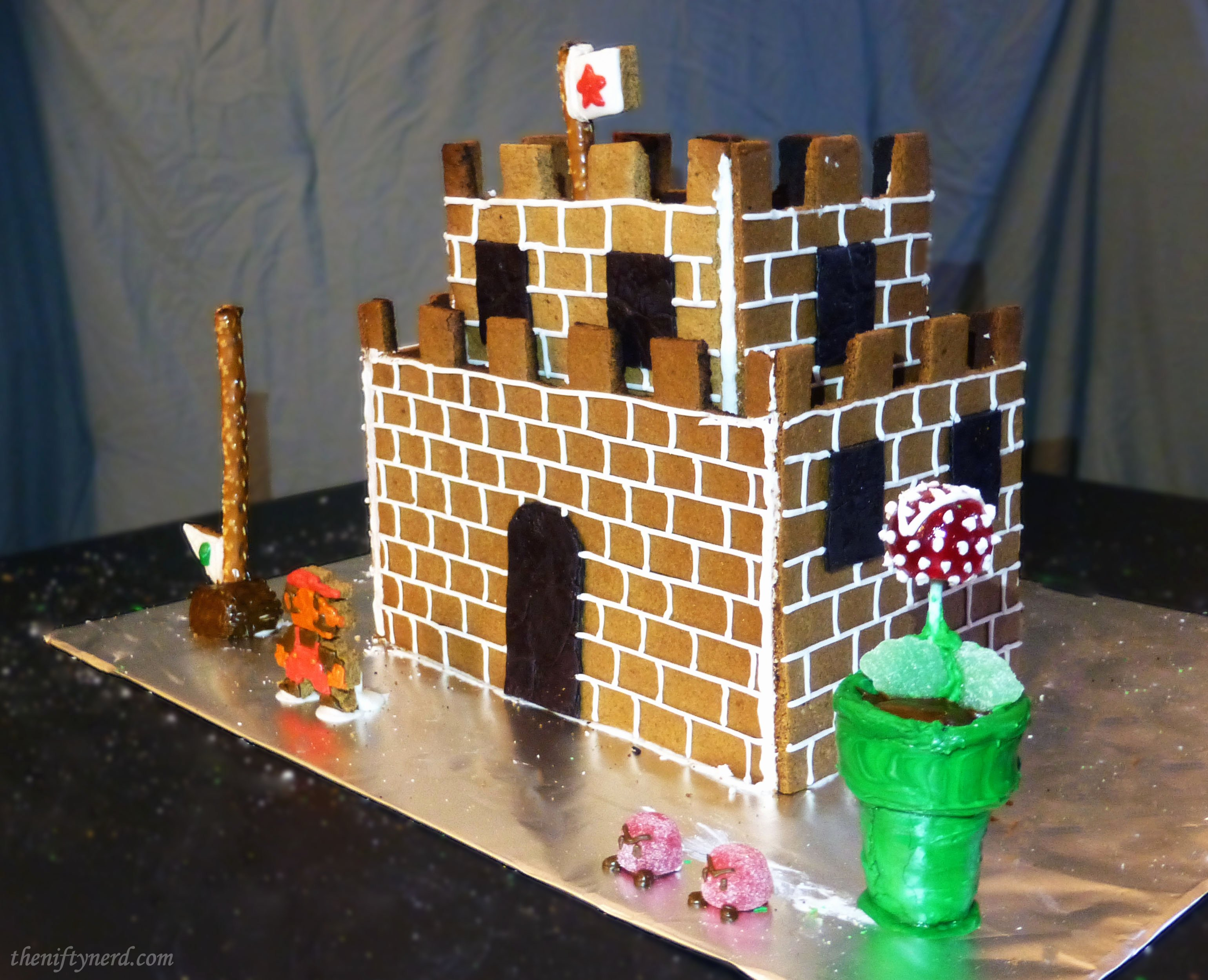 Gingerbread Castle Template Inspirational Super Mario Castle Gingerbread House Tutorial & Printable