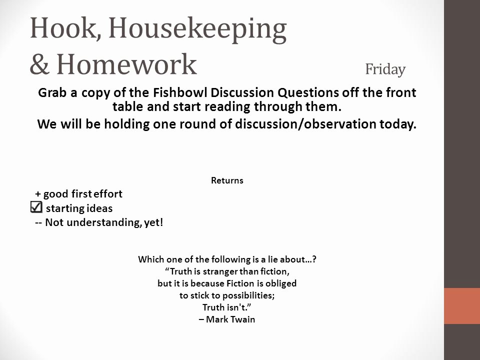 Girl by Jamaica Kincaid Quiz Inspirational Hook Housekeeping & Homework Monday Ppt