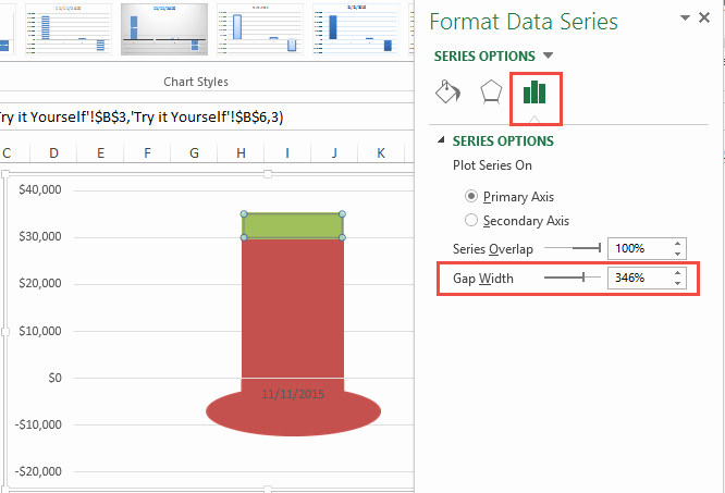 Goal thermometer Template Excel Awesome How to Make A thermometer Goal Chart In Excel Excel