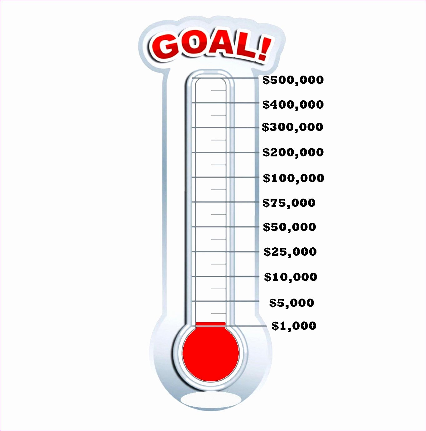 Goal thermometer Template Excel Beautiful 9 Fundraising thermometer Template Excel Exceltemplates