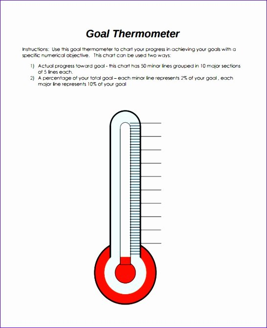 Goal thermometer Template Excel Luxury 9 Fundraising thermometer Template Excel Exceltemplates