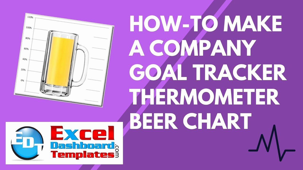 Goal thermometer Template Excel Unique How to Make An Excel Pany Goal Tracker thermometer Beer