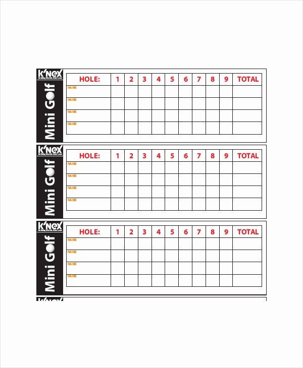 Golf Scorecard Template Awesome Golf Scorecard Template