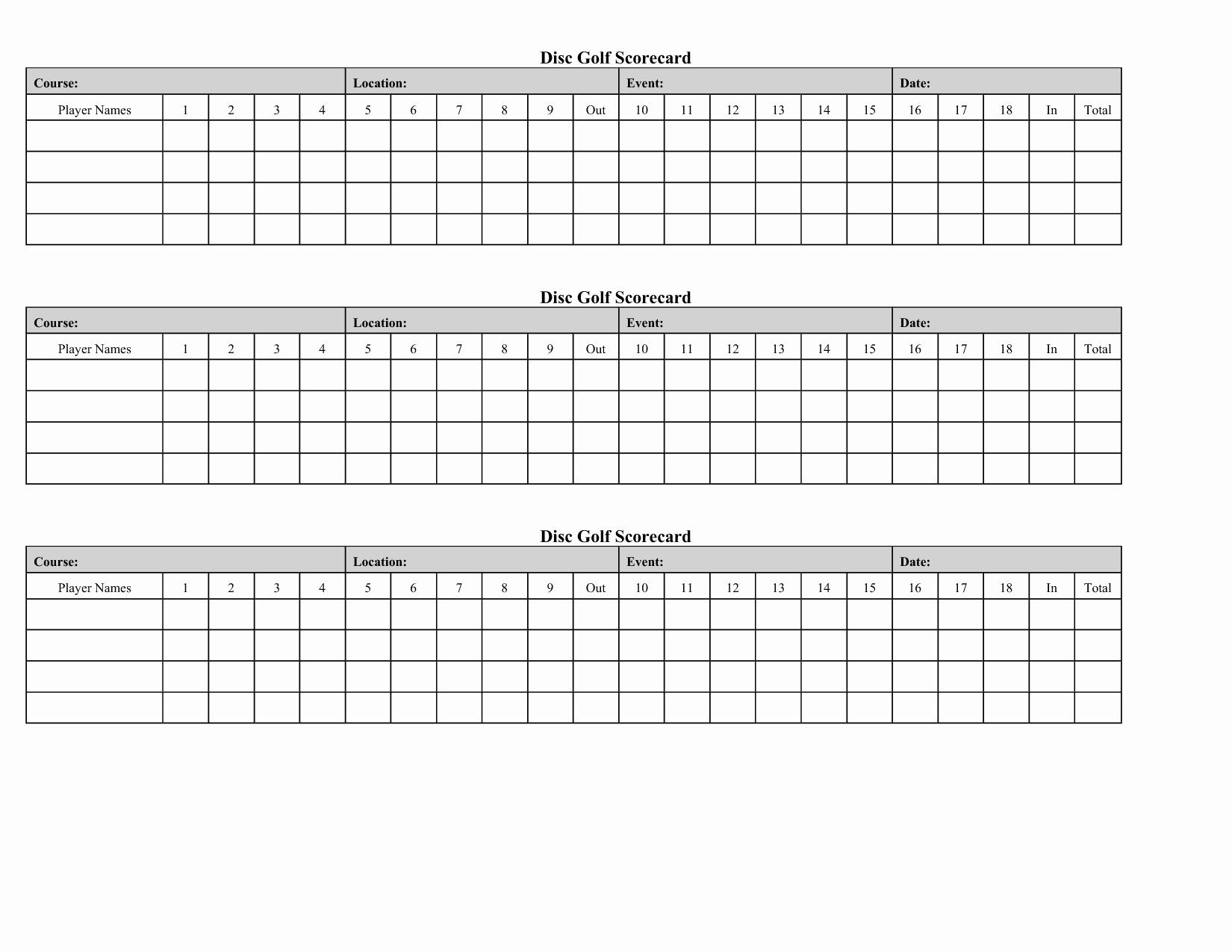Golf Scorecard Template Beautiful Free Mini Golf Scorecard Template Paicrosinon's Blog