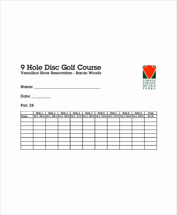 Golf Scorecard Template Excel Fresh 10 Golf Scorecard Templates – Free Sample Example format