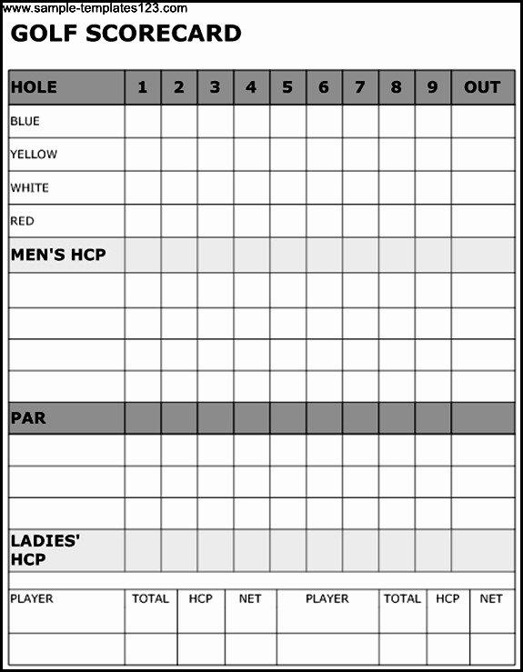 Golf Scorecard Template Excel Inspirational Golf Scorecard Template