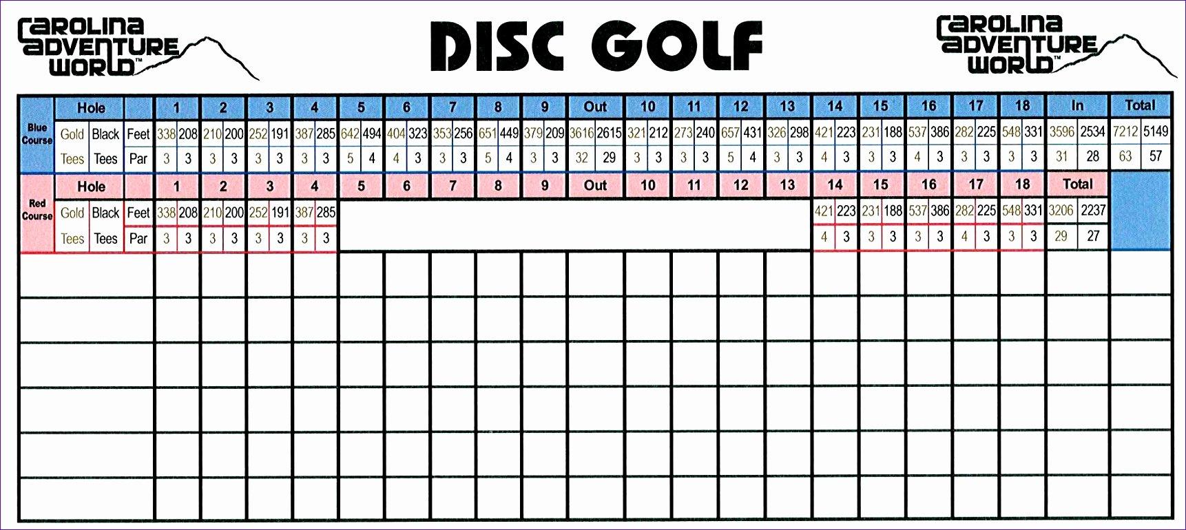 Golf Scorecard Template Excel Unique 6 Golf Scorecard Template Excel Exceltemplates