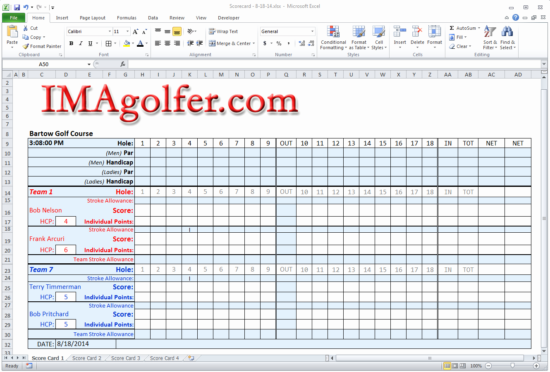 Golf Scorecard Template Inspirational Imagolfer Golf League Management Website