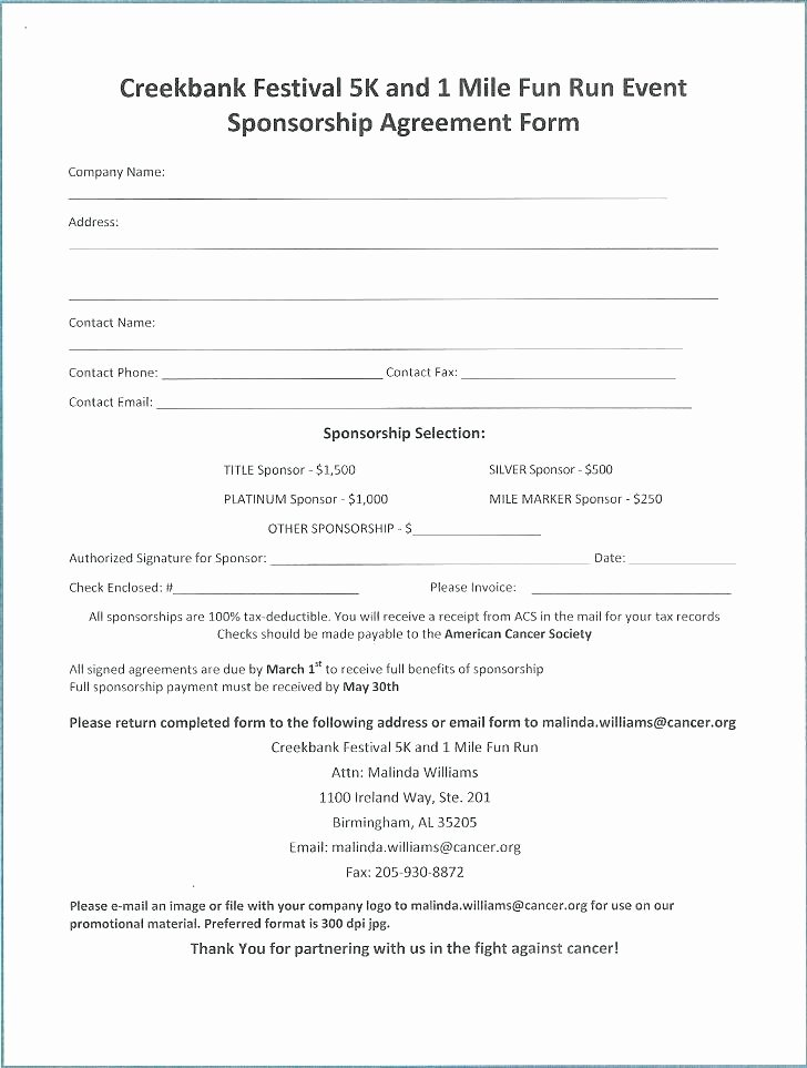 Golf tournament Entry forms Template Beautiful Sponsored Run form Template – Syncla