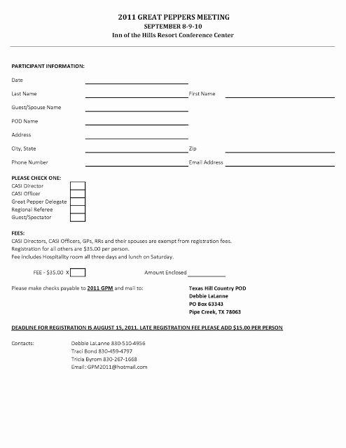 Golf tournament Entry forms Template Elegant Golf Registration form Template Free