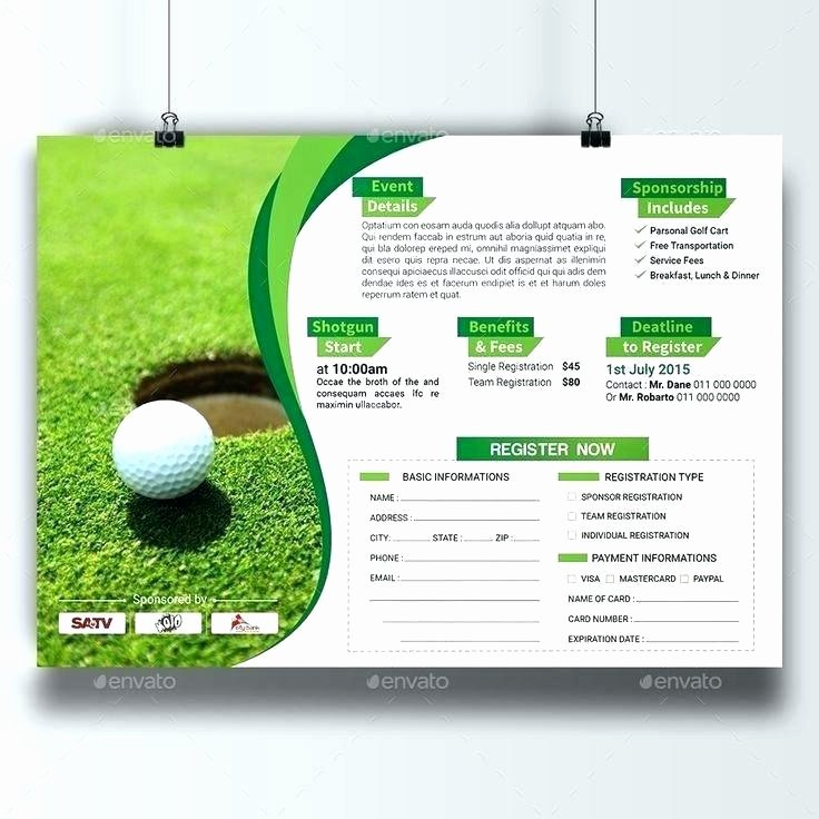 Golf tournament Entry forms Template Lovely Charity Golf tournament Flyer Template Free