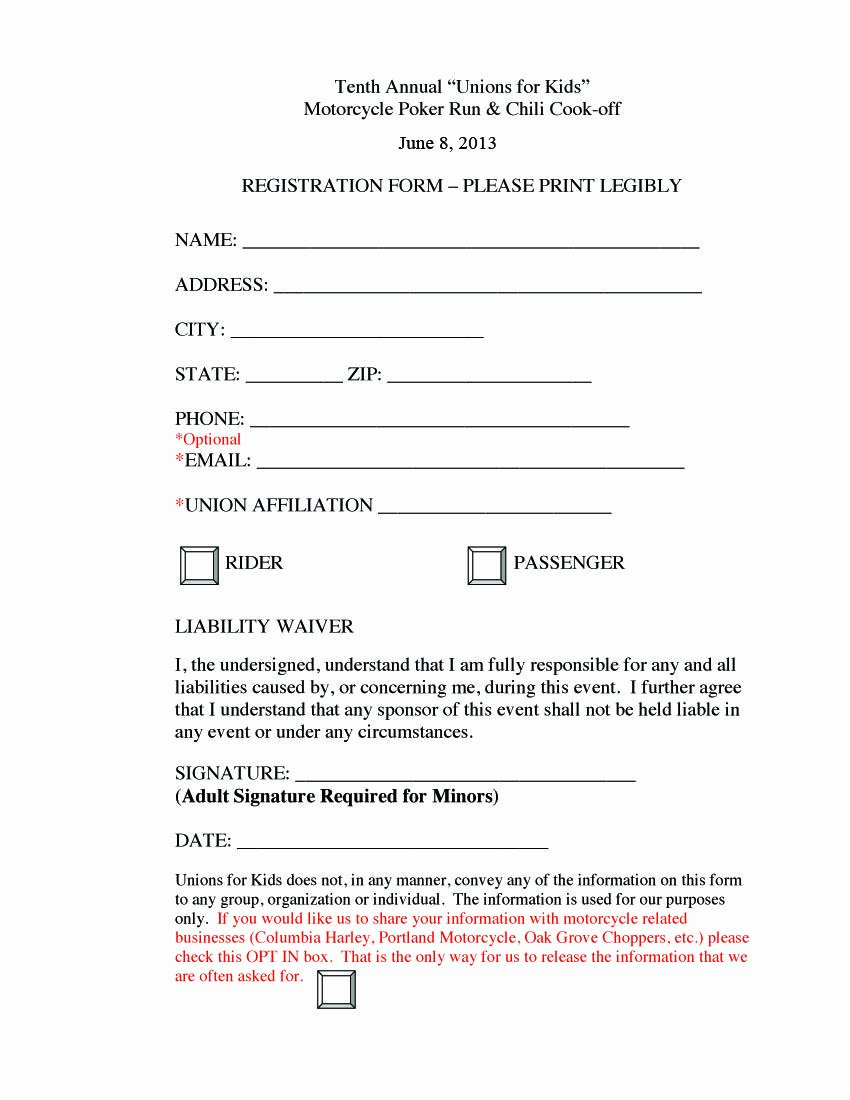 Golf tournament Entry forms Template New Poker Run Registration form Fundraising